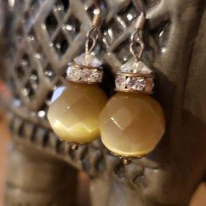Tiger eye Earrings.